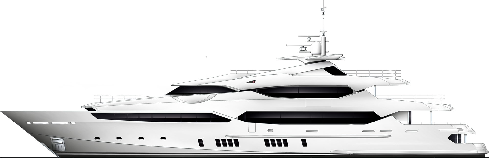 155 Yacht - Yacht, Transparent background PNG HD thumbnail