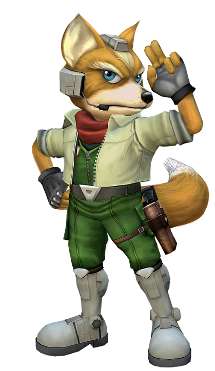 25   Melee Fox.png - Star Fox, Transparent background PNG HD thumbnail