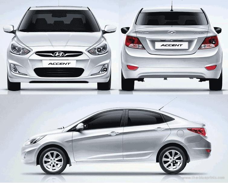 Hyundai Accent Blue   Diesel   2014   Düz Vites - Accent Auto Vector, Transparent background PNG HD thumbnail