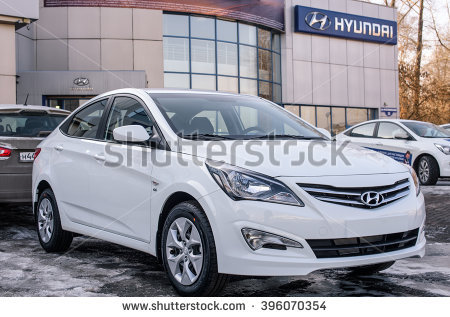 Novokuznetsk, Russia   March 22, 2016: Car Hyundai Accent (Solaris) On - Accent Auto Vector, Transparent background PNG HD thumbnail