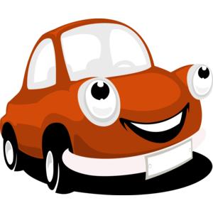 Smiling Cartoon Car Vector - Accent Auto Vector, Transparent background PNG HD thumbnail