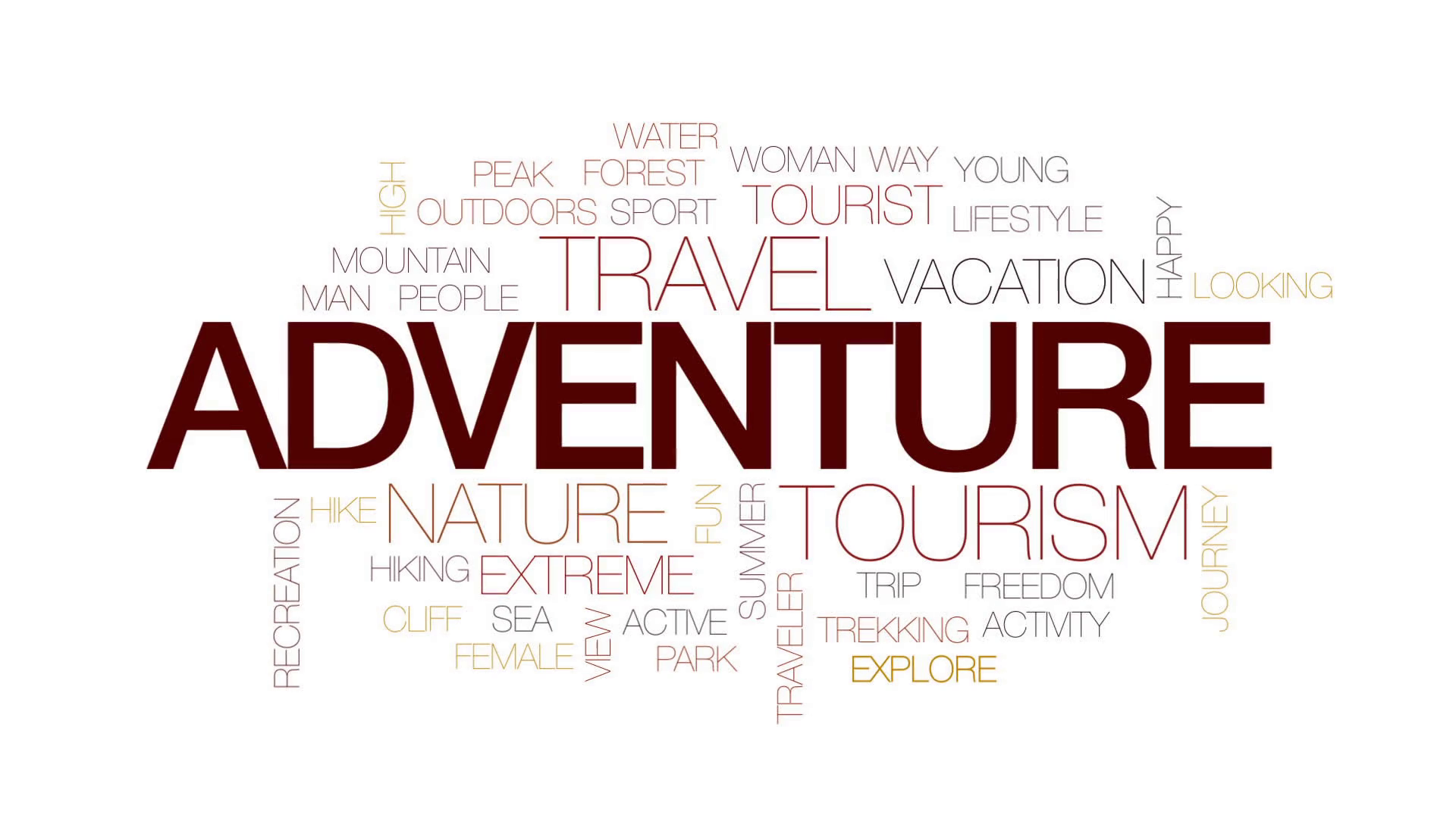 Adventure Word Png - Adventure Animated Word Cloud, Text Design Animation. Kinetic Typography. Motion Background   Videoblocks, Transparent background PNG HD thumbnail