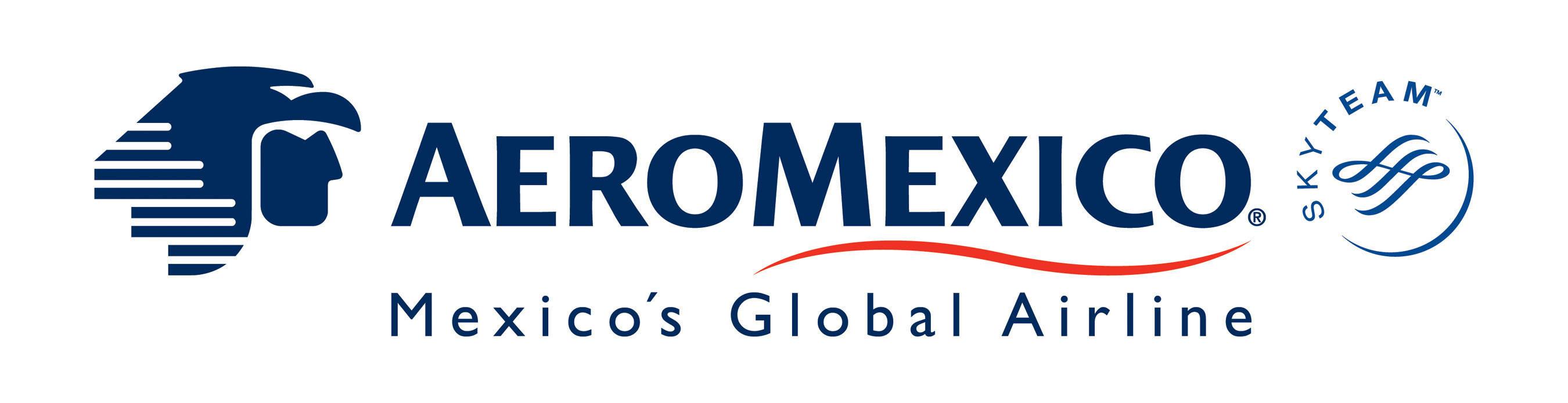 Aeromexico Logo. (Prnewsfoto/aeromexico) - Aeromexico Skyteam, Transparent background PNG HD thumbnail