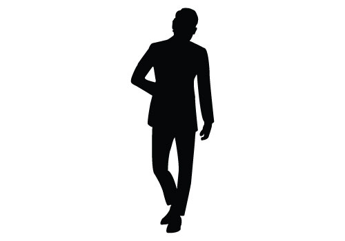 Formal Man Silhouette Vector - Afam Vector, Transparent background PNG HD thumbnail