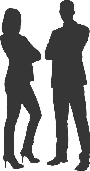 Siluet, Adam, Kadın, Ters Işık, Vektör, Vektörel, Png - Afam Vector, Transparent background PNG HD thumbnail