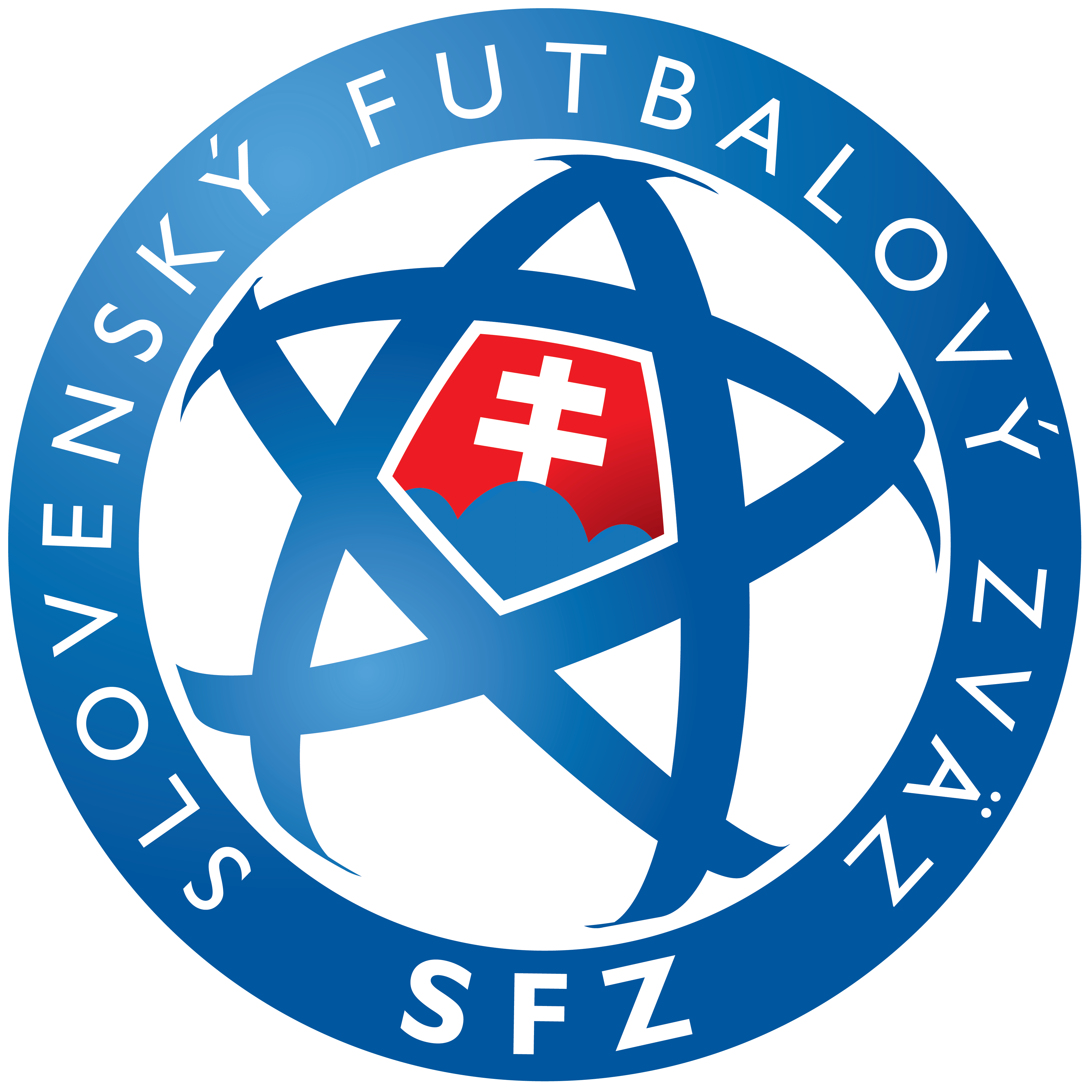 Albania National Football Team Png - Slovakia National Football Team Logo, Sfz Logotype, Transparent background PNG HD thumbnail