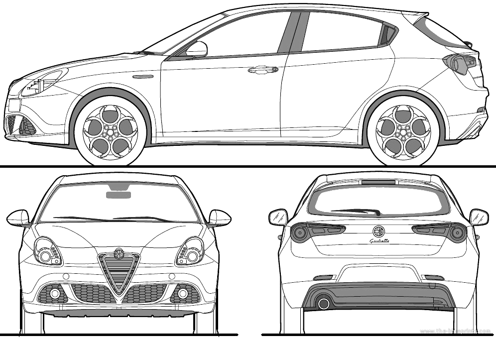 Alfa Romeo Giulietta (2010) - Alfa Romeo Mito Vector, Transparent background PNG HD thumbnail