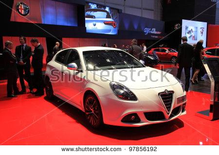Geneva   March 8: A Alfa Romeo Giulietta Car On Display At 82Th International Motor - Alfa Romeo Mito Vector, Transparent background PNG HD thumbnail