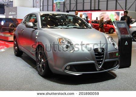 Geneva, Switzerland   March 4, 2014   2014 Alfa Romeo Mito Presented At The - Alfa Romeo Mito Vector, Transparent background PNG HD thumbnail