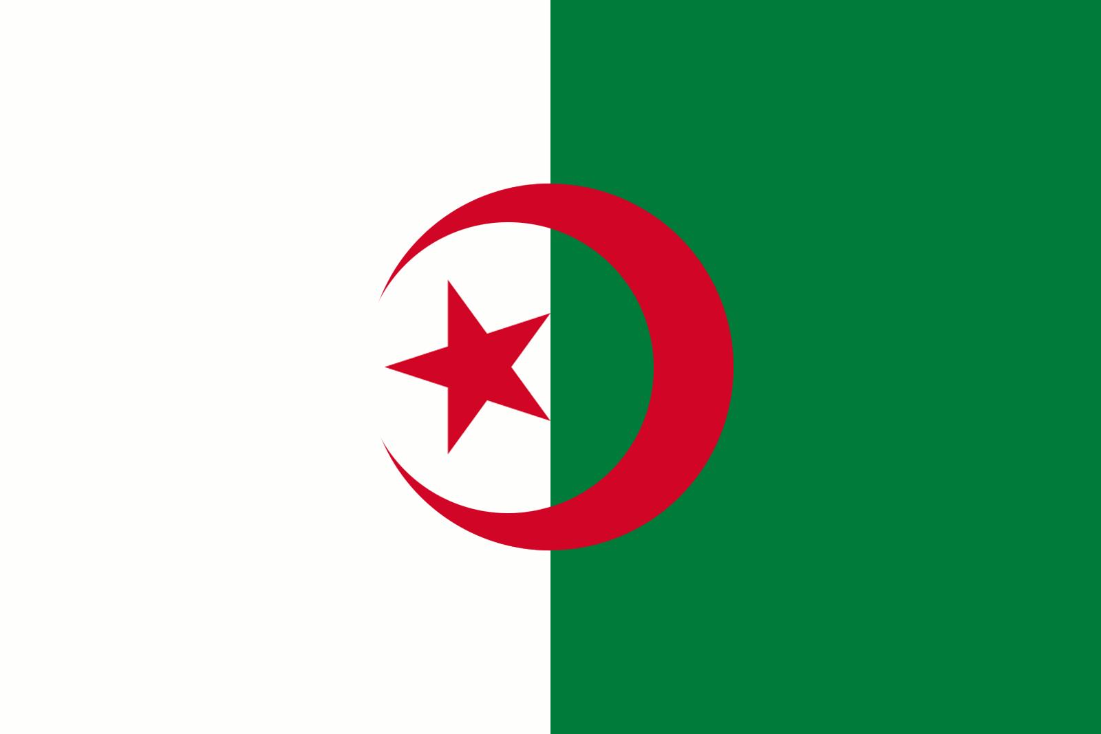 File:flag Of Algeria Obverse.png - Algeria, Transparent background PNG HD thumbnail