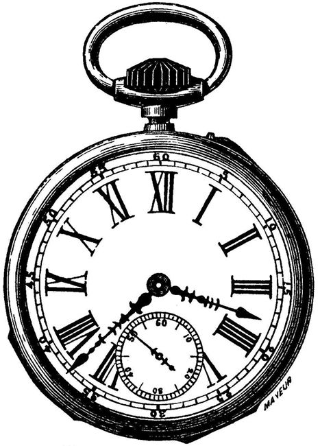 Alice In Wonderland Pocket Watch Png - Alice In Wonderland Clock Clipart. Pocket Watch Clipart, Transparent background PNG HD thumbnail