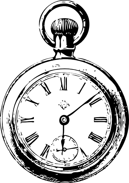 Alice In Wonderland Pocket Watch Png - Pocket Watch Clip Art At Clker, Transparent background PNG HD thumbnail