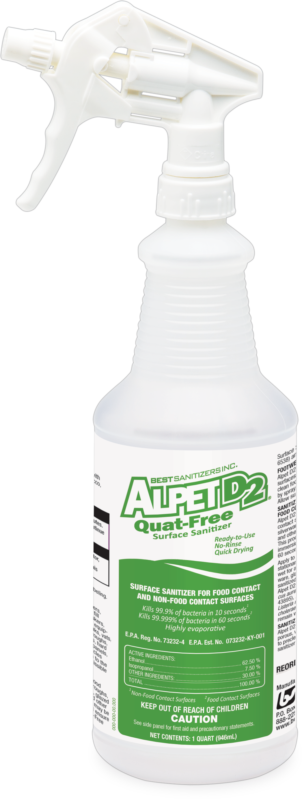Alpet D2 Quat Free Surface Sanitizer From Best Sanitizers Is An Effective Food Contact And Hdpng.com  - Alpet, Transparent background PNG HD thumbnail