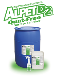 Best Sanitizers, Inc. Introduces New Alpet D2 Quat Free Surface Cleaner And Sanitizer To Food Processors And Food Handling Professionals - Alpet, Transparent background PNG HD thumbnail