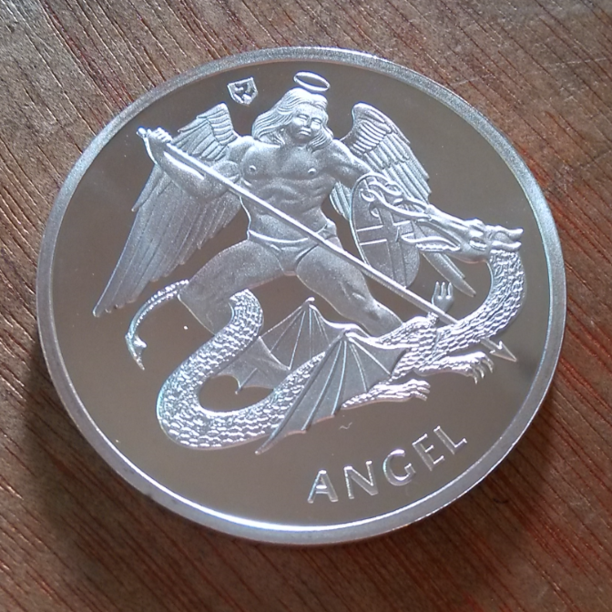 40Mm Angel Silver Plated Souvenir Coin Medal Uk(China)   Logo Angel Souvenirs Png - Angel Souvenirs, Transparent background PNG HD thumbnail