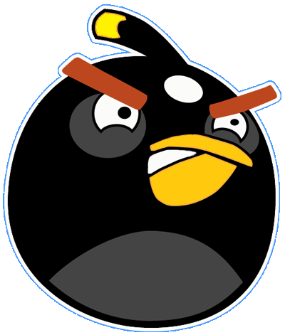 Black.png Hdpng.com  - Angry Birds, Transparent background PNG HD thumbnail