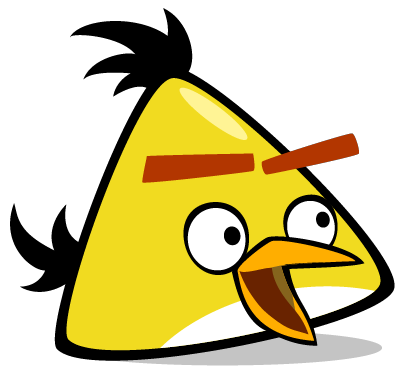 File:surprised Chuck.png - Angry Birds, Transparent background PNG HD thumbnail