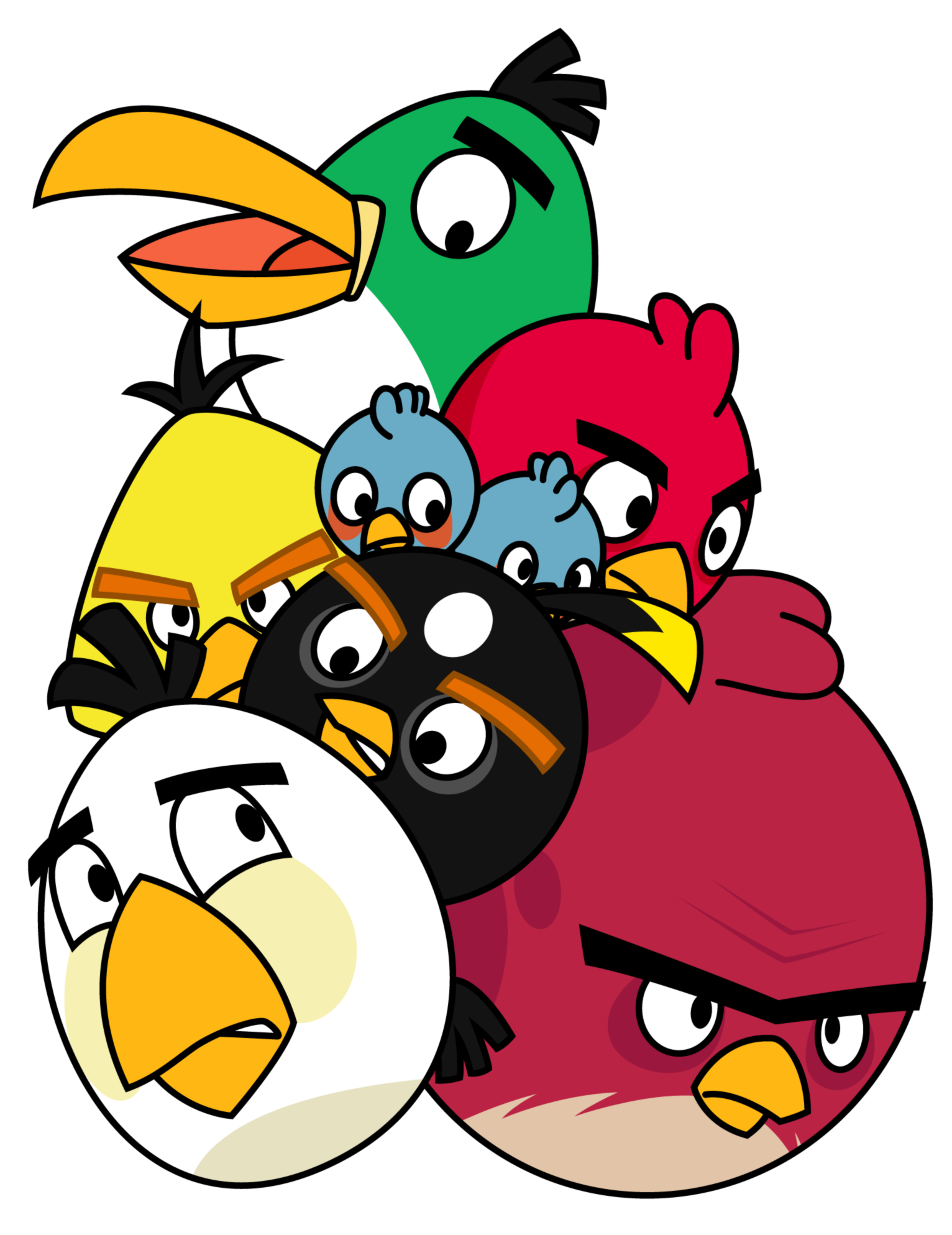. Hdpng.com Pile Of Angry Birds By Gav Imp Hdpng.com  - Angry Birds, Transparent background PNG HD thumbnail