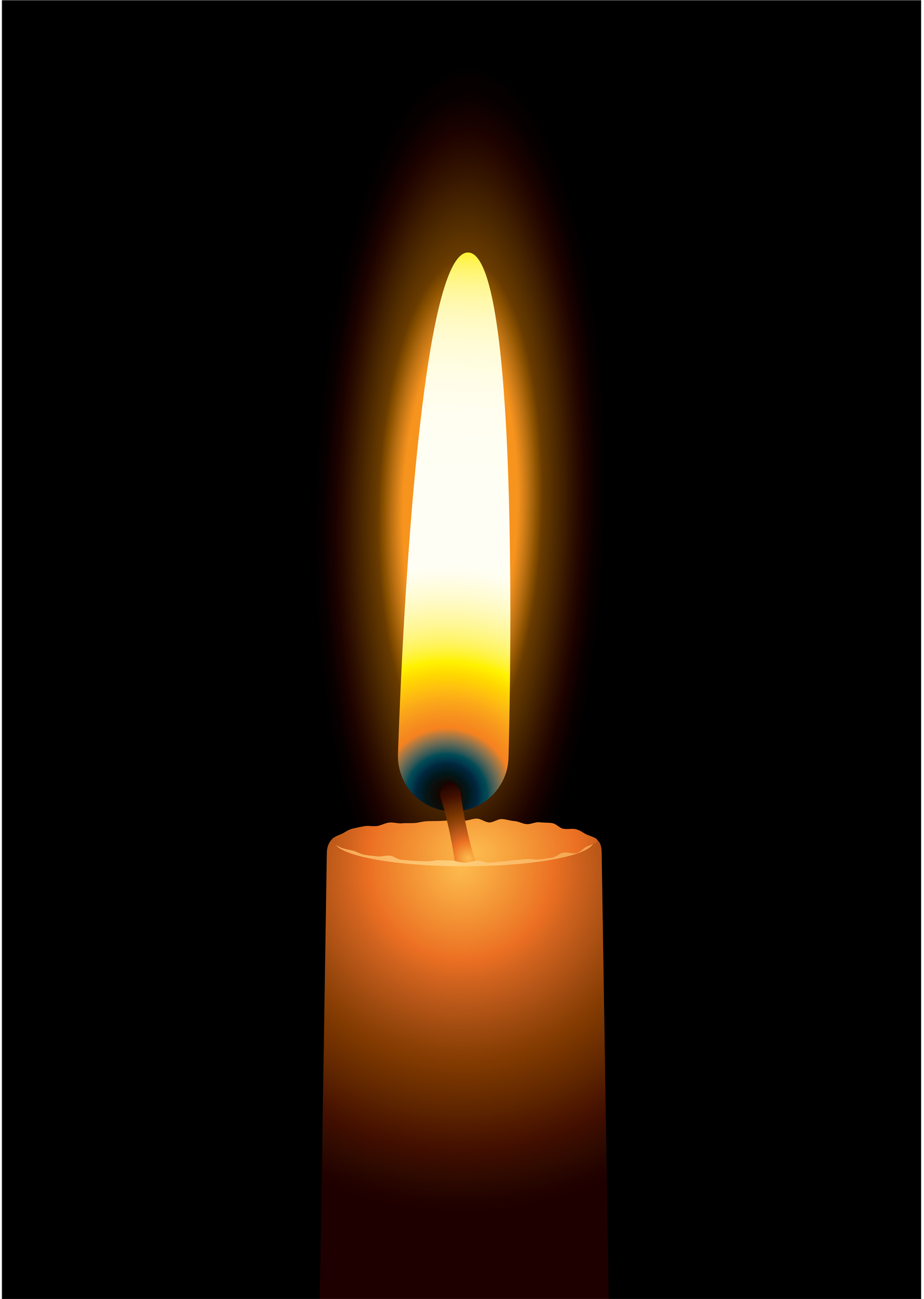 Animated Candle Flame Gif Clipart - Candle, Transparent background PNG HD thumbnail