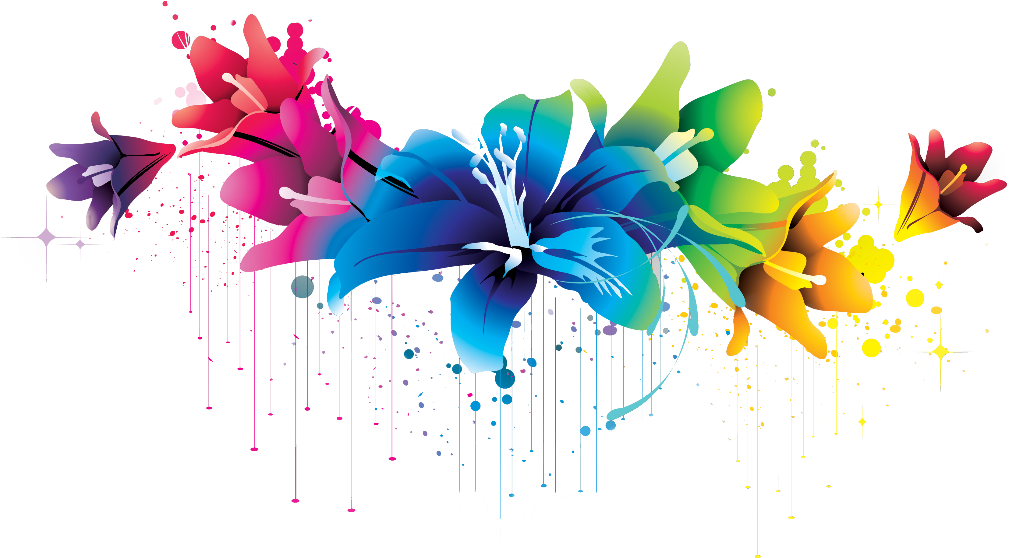 Colorful Flower Vector Clipart Png 02 By Briellefantasy On Clipart Library - Apc Vector, Transparent background PNG HD thumbnail