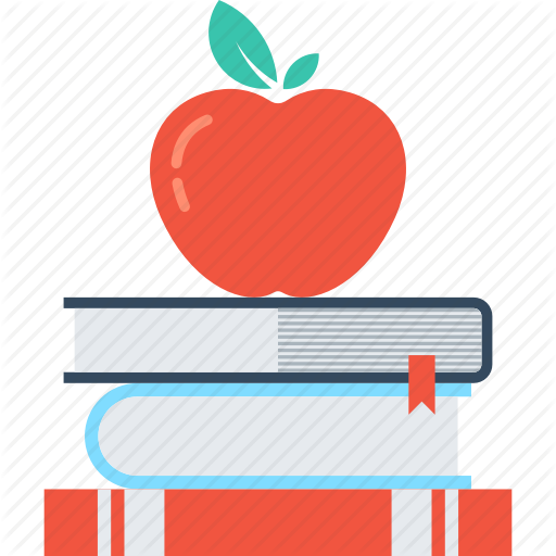 Apple And Book PNG