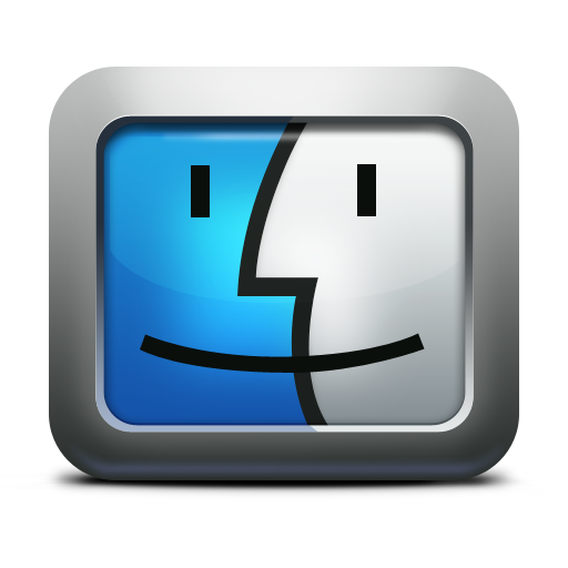 Apple, Face, Finder, Mac Os X, Mettalic Icon. Download Png - Mac Os X, Transparent background PNG HD thumbnail