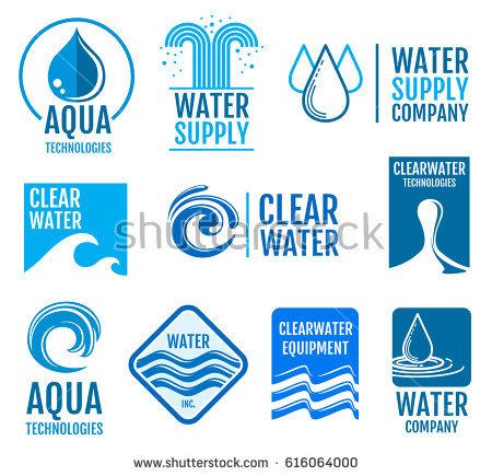 Fresh Water Vector Logos And Labels Set With Aqua Symbols. Fresh Drop Clean Water Logo - Aqua Cleaning Vector, Transparent background PNG HD thumbnail