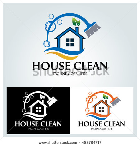 House Clean Logo Design Template ,vector Illustration - Aqua Cleaning Vector, Transparent background PNG HD thumbnail