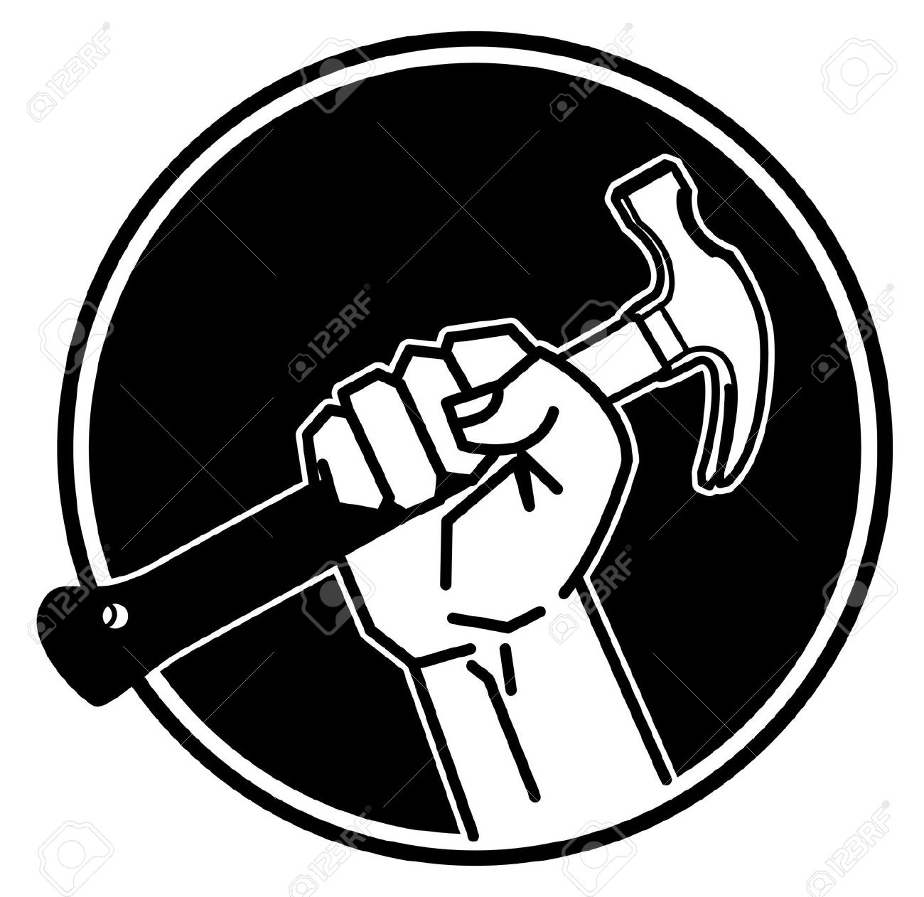 555 Hand Holding Hammer Stock Vector Illustration And Royalty Free. - Arm And Hammer Vector, Transparent background PNG HD thumbnail