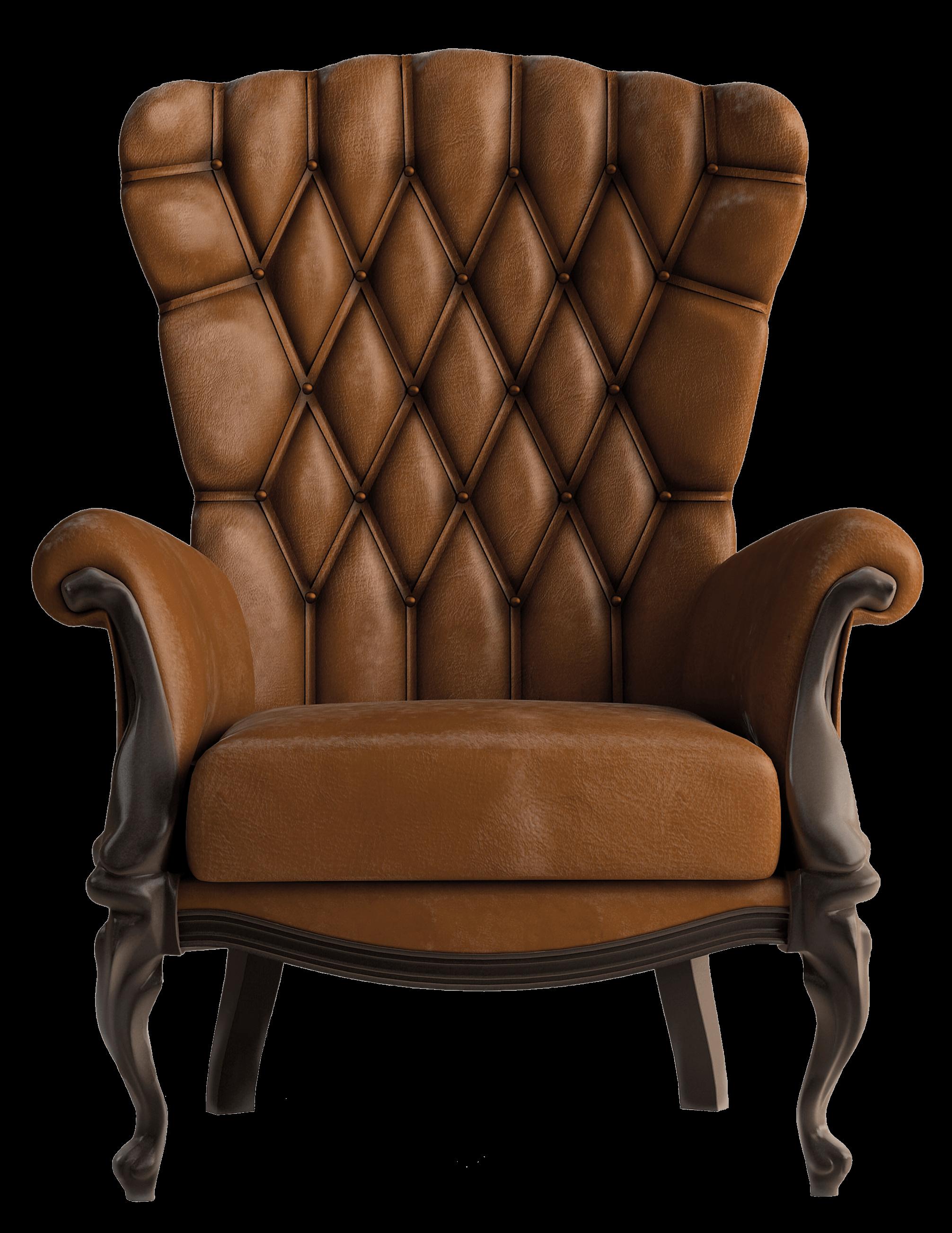 Armchair Vintage Brown - Armchair, Transparent background PNG HD thumbnail