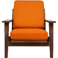 Orange Armchair Png Image Png Image - Armchair, Transparent background PNG HD thumbnail