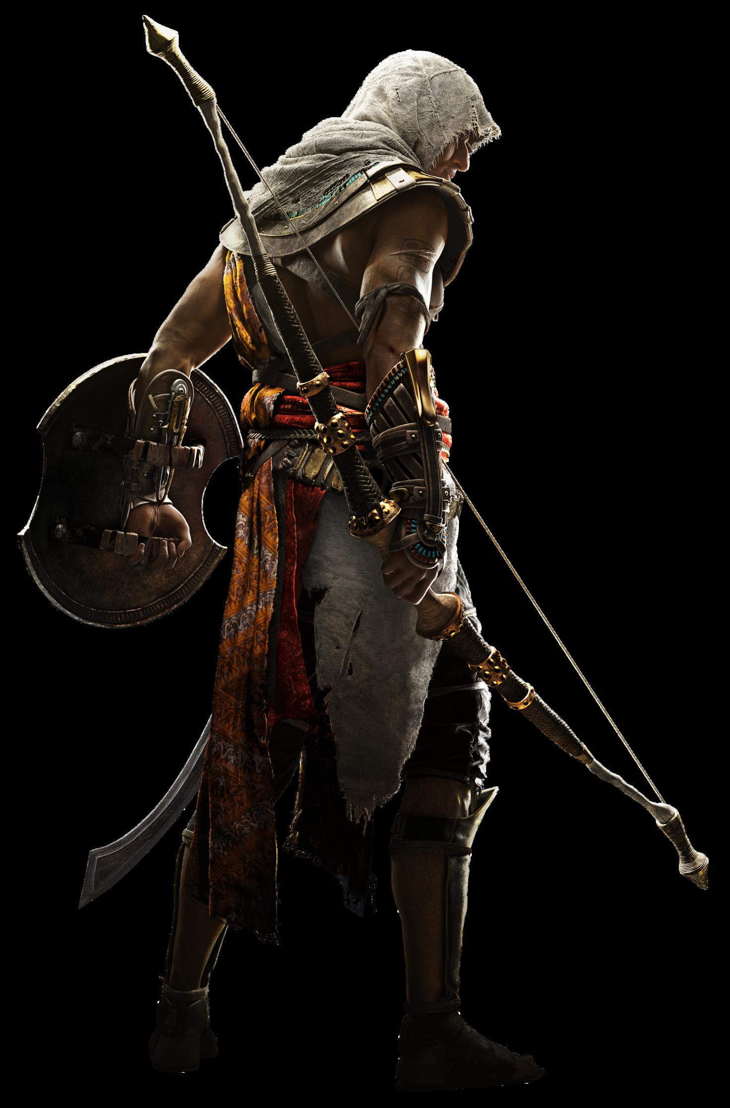 Aco Bayek Render.png - Assassins Creed, Transparent background PNG HD thumbnail