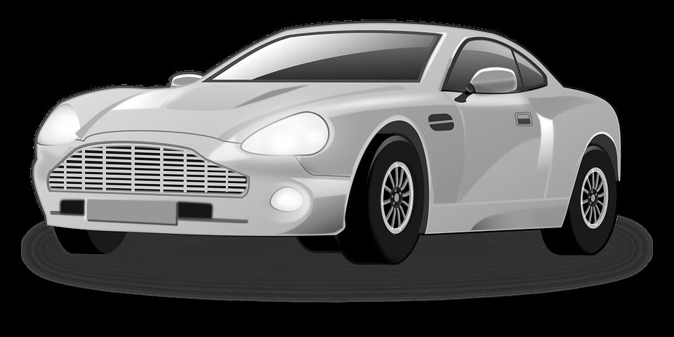 Aston Martin, Car, Silver Car, Sports Car - Aston Martin Auto Vector, Transparent background PNG HD thumbnail