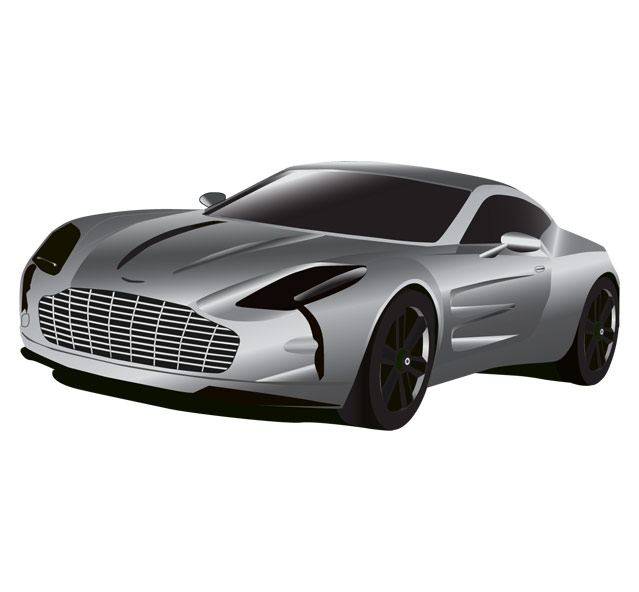 Aston Martin Clipart Hd. - Aston Martin Auto Vector, Transparent background PNG HD thumbnail