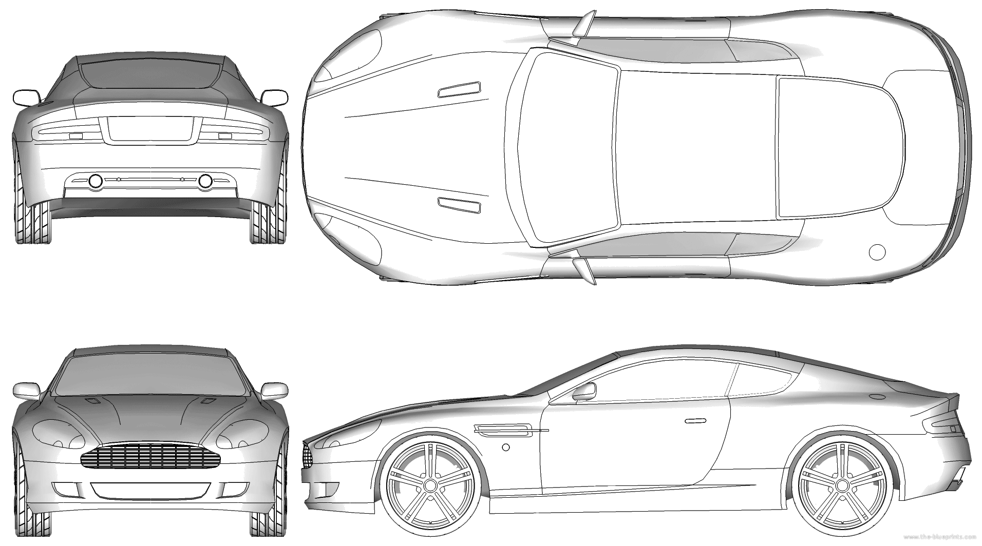 Aston Martin Db9 - Aston Martin Auto Vector, Transparent background PNG HD thumbnail