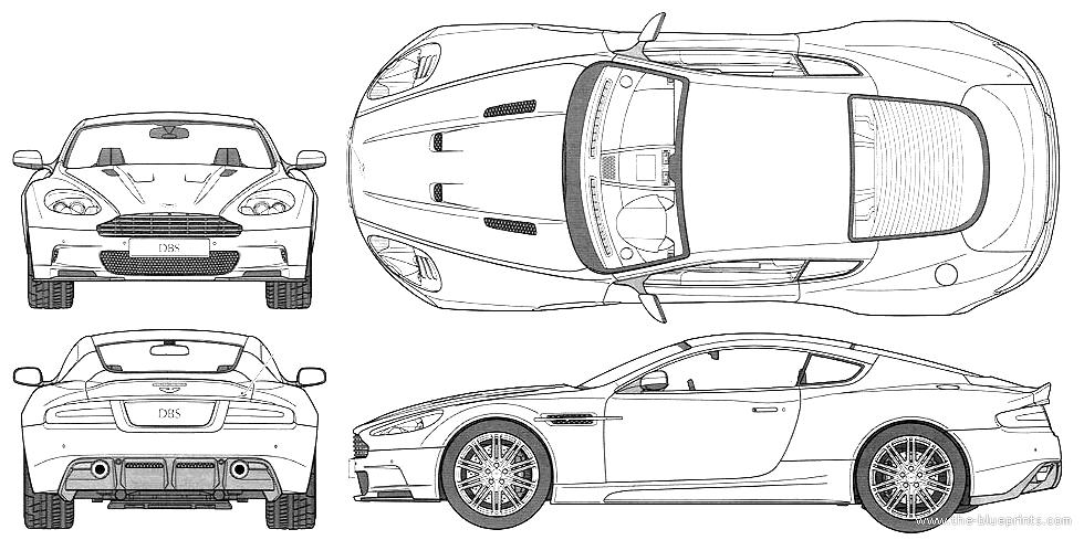 Aston Martin Dbs (2008) - Aston Martin Auto Vector, Transparent background PNG HD thumbnail