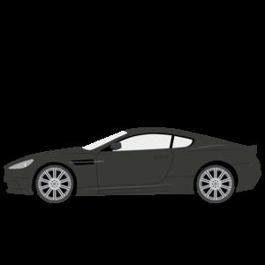 Aston Martin Dbs V12 · Cartoon Car Front View Png Clipart - Aston Martin Auto Vector, Transparent background PNG HD thumbnail