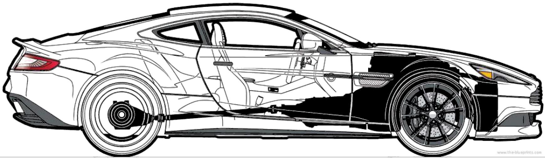 Aston Martin Vanquish (2013) - Aston Martin Auto Vector, Transparent background PNG HD thumbnail