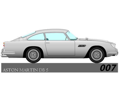 Car Outline Vector Graphics - Aston Martin Auto Vector, Transparent background PNG HD thumbnail