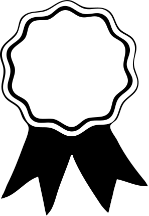 Award Ribbon Png Black And White - Free Award Ribbon Clipart · Award Ribbon Clipart Black And White, Transparent background PNG HD thumbnail