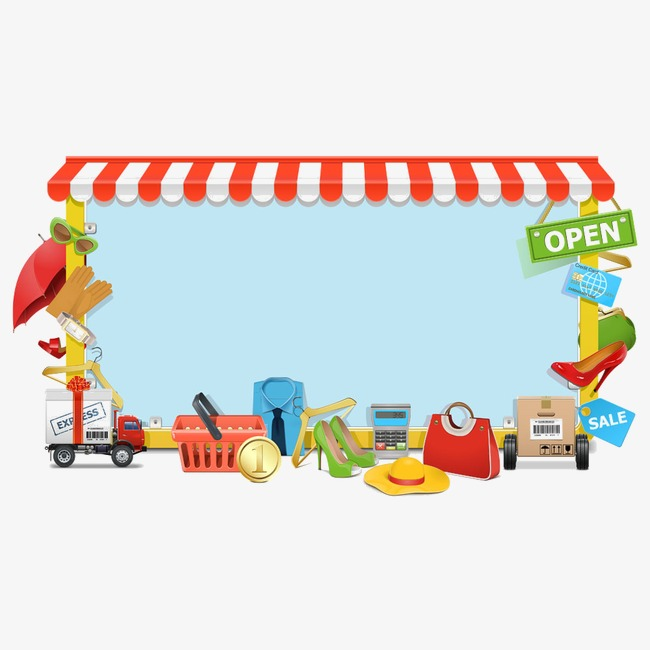 Border Transport Supplies Supplies, Convenience Store, Car, Articles Png Image And Clipart - Baby Toys Borders, Transparent background PNG HD thumbnail
