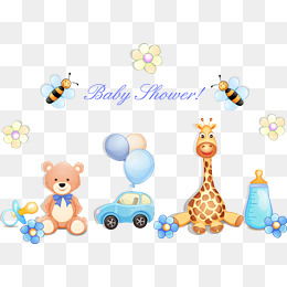 Cartoon Baby Toys Vector, Toy, Toy Car, Bear Png And Vector - Baby Toys Borders, Transparent background PNG HD thumbnail
