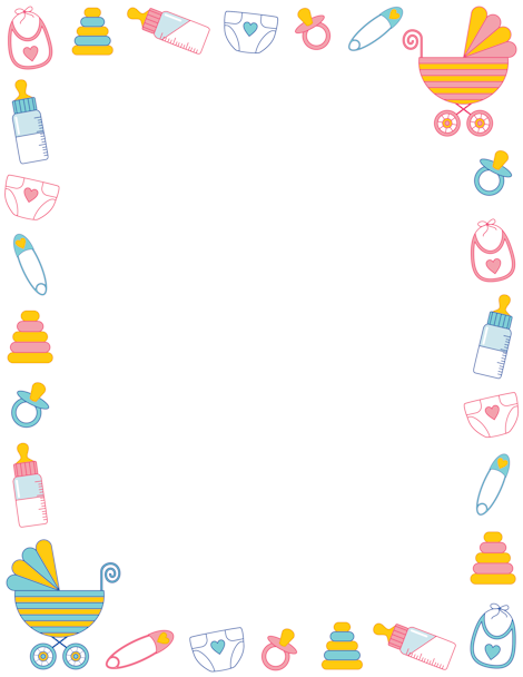 Free Baby Shower Border Templates Including Printable Border Paper And Clip Art Versions. File Formats Include Gif, Jpg, Pdf, And Png. - Baby Toys Borders, Transparent background PNG HD thumbnail