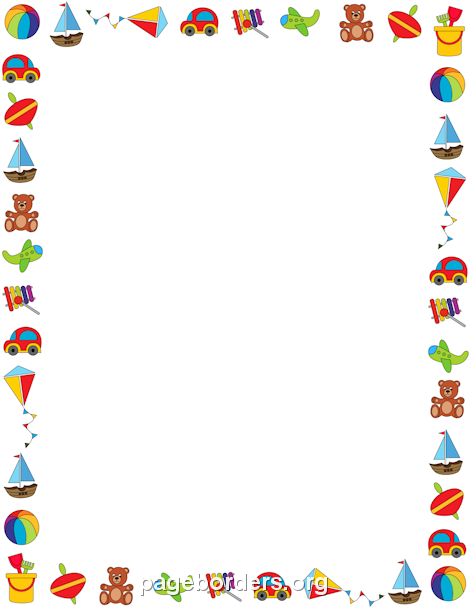 Free Toy Border Templates Including Printable Border Paper And Clip Art Versions. File Formats Include Gif, Jpg, Pdf, And Png. - Baby Toys Borders, Transparent background PNG HD thumbnail