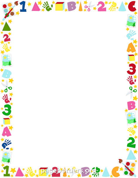 Printable Preschool Border. Free Gif, Jpg, Pdf, And Png Downloads At Http - Baby Toys Borders, Transparent background PNG HD thumbnail