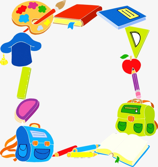 Teaching Elements Borders, Teaching, Student, Learn Png And Vector - Baby Toys Borders, Transparent background PNG HD thumbnail