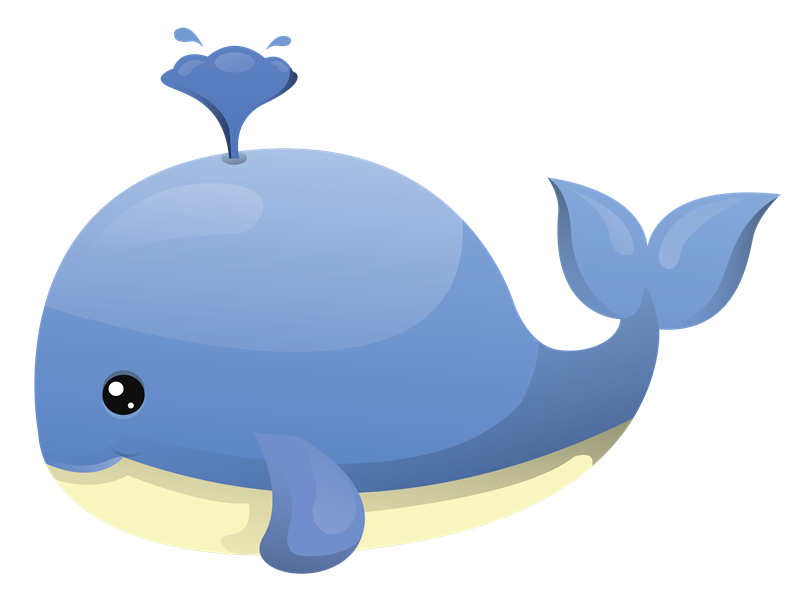 Free To Use Public Domain Whale Clip Art - Baby Whale, Transparent background PNG HD thumbnail