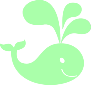 Mint Green Whale Clip Art - Baby Whale, Transparent background PNG HD thumbnail