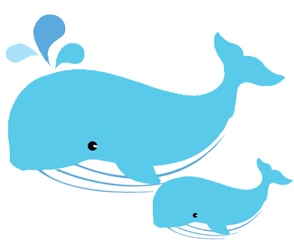 Mom And Baby Whale Clipart - Baby Whale, Transparent background PNG HD thumbnail