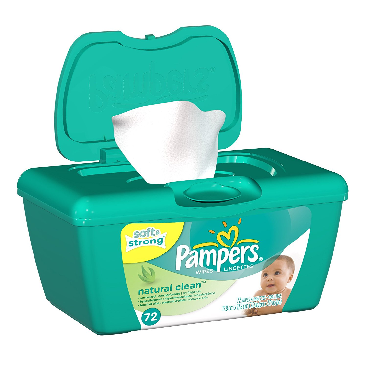 Amazon Pluspng.com: Pampers Natural Clean Wipes Tub 72 Count: Health U0026 Personal Care - Baby Wipes, Transparent background PNG HD thumbnail
